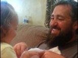 Beardtastic Dad's Plan To Surprise His Daughter Through Peekaboo Seriously Backfires