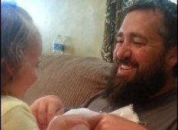 Beardtastic Dad's Plan To Surprise His Daughter Through Peekaboo Seriously Backfires
