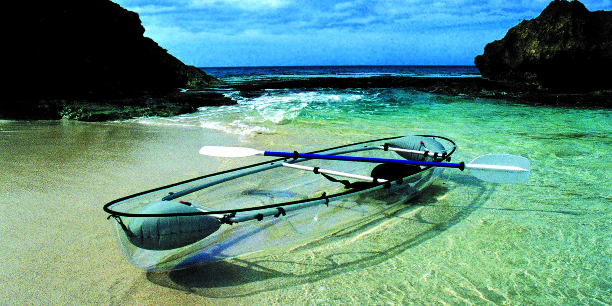 the molokini a transparent ocean kayak so genius we wish