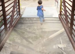 Action Movie Kid Runs Over Falling Bridge, Is Basically A Superhero