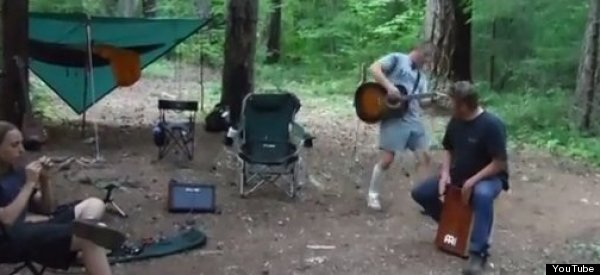 Rabid Bat Attacks Guitar Playing Man (VIDEO)