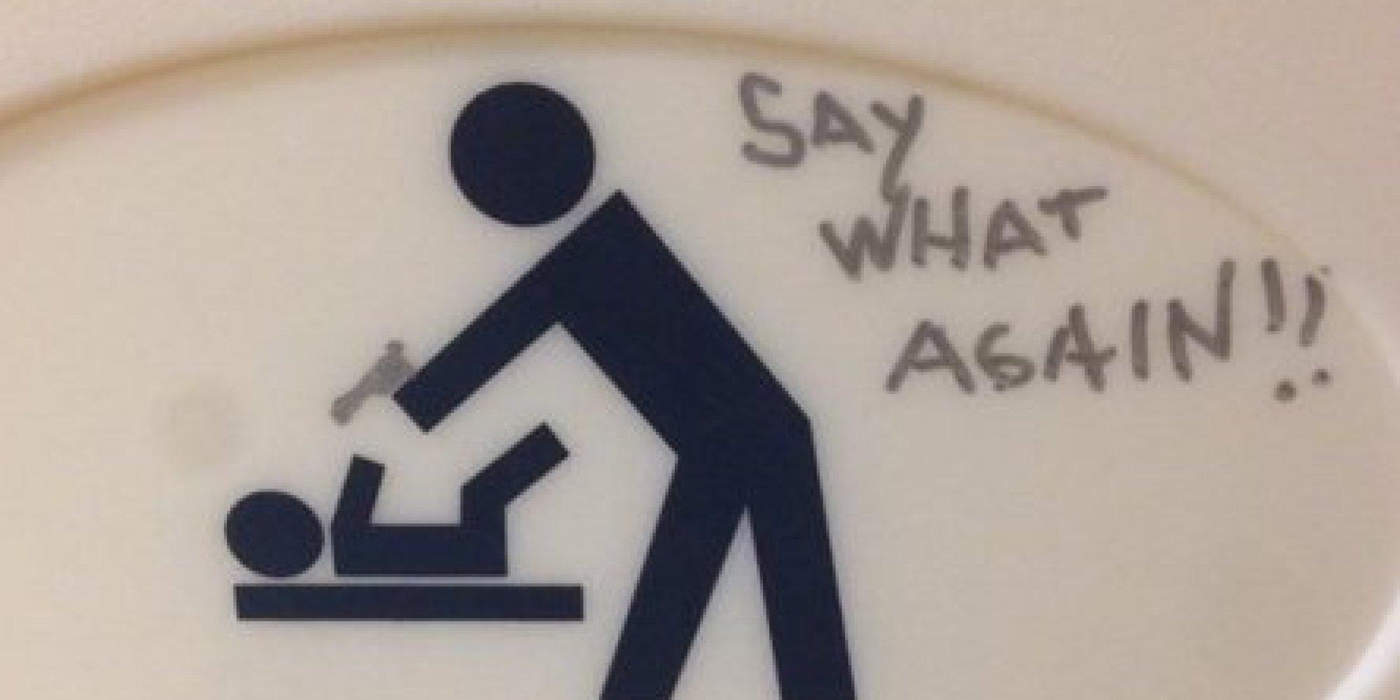 Beautiful Bathroom Graffiti 18 beautiful examples of bathroom graffiti art going through a