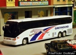 Diecast Diorama All Aboard The Greyhound