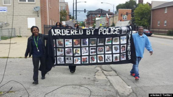 police shooting banner