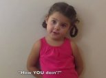 Adorable Little Girl Recites Classic Lines From 'Friends'