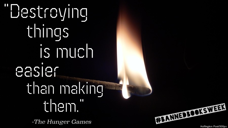 gorgeous quotes from banned books images huffpost bannedbookshungergames