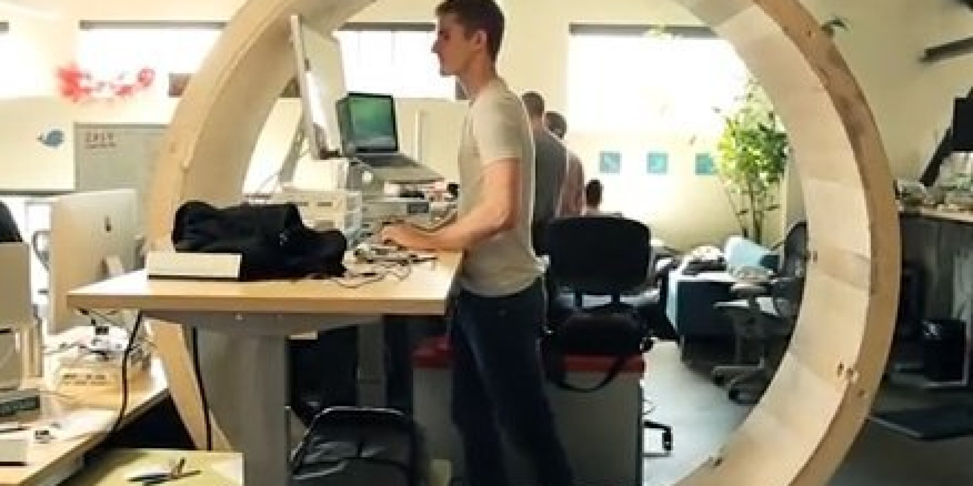 Forget Standing Desks Hamster Wheel Desks Are What S Up