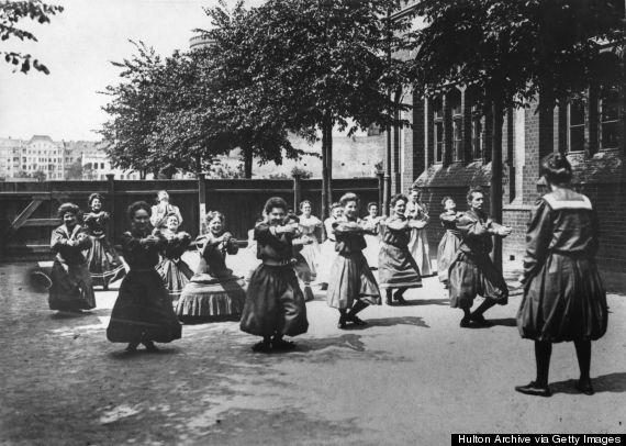 woman exercising 1900s