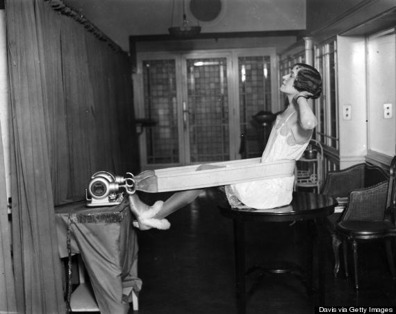 woman exercising 1920s