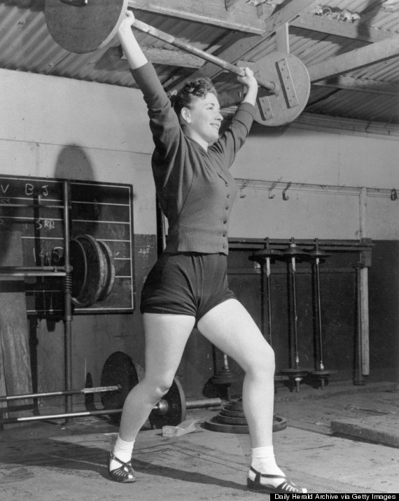 woman exercising 1950s