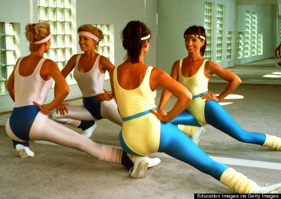 woman exercising 1980s