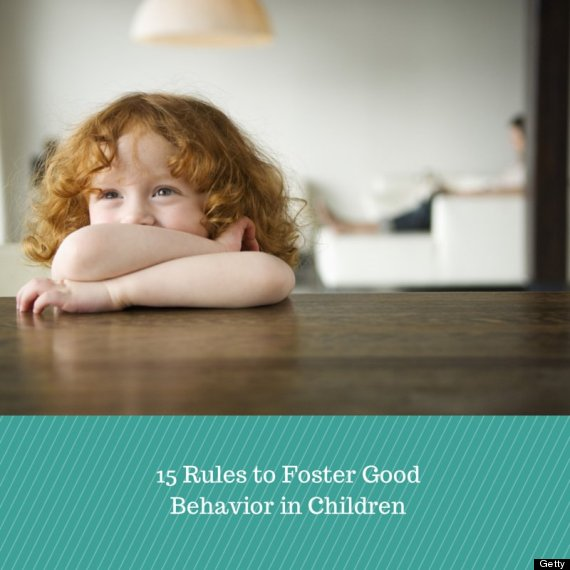 15 rules to foster good behavior in children