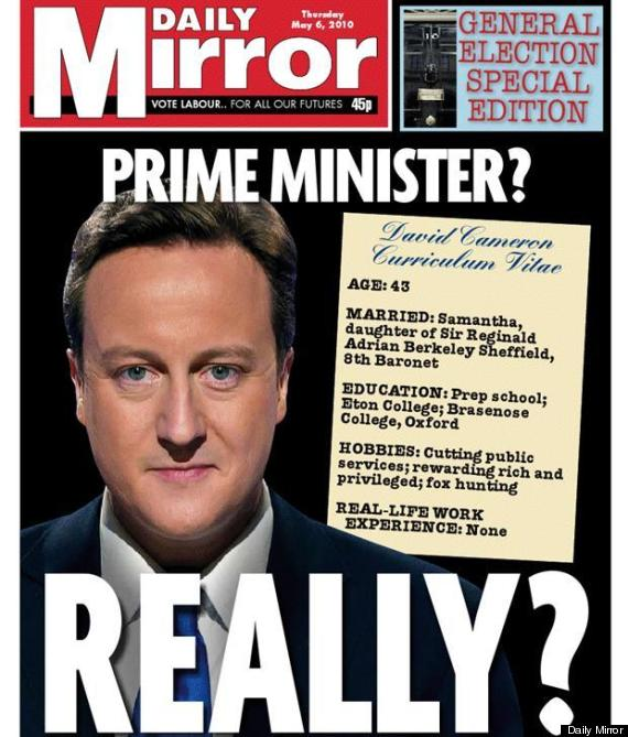 mirror front general election 2010