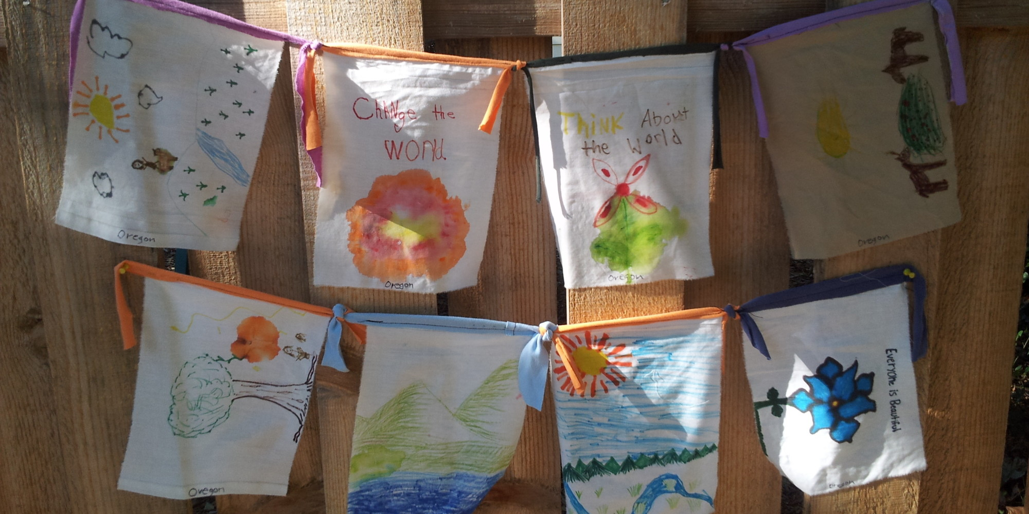 Prayer Flags Fly In Solidarity With People S Climate March