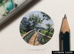 Artist Lorraine Loots Makes Paintings For Ants - The Results Are Really Quite Cool
