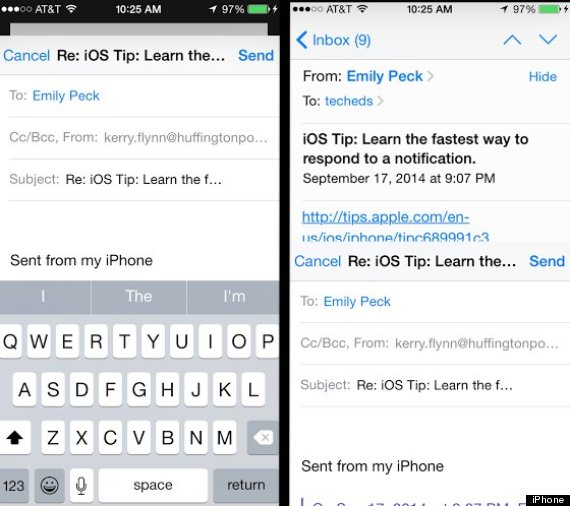 ios8 email draft