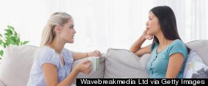 WOMAN TALKING TO A WOMAN