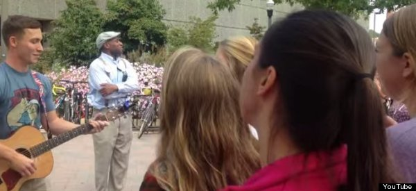 Anti-Gay Preacher's Message Of Hate Drowned Out By Students' Hymn About Love