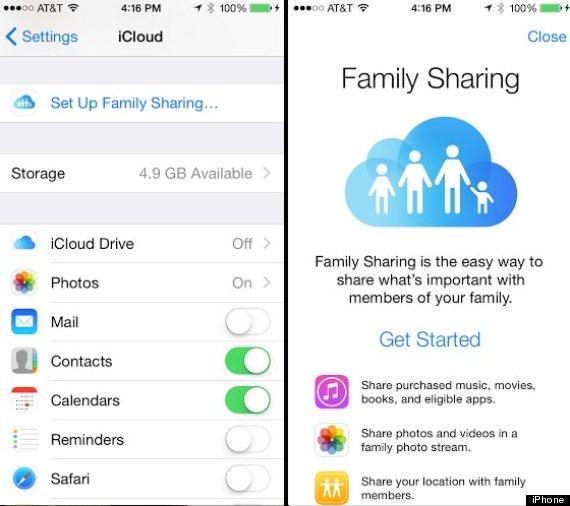 ios8 family sharing