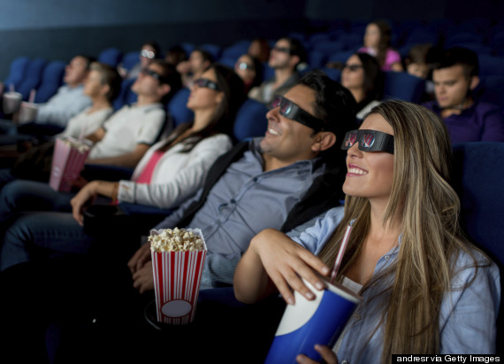 audience watching 3d movie