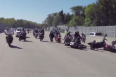 Bikers crash | Pic: Youtube