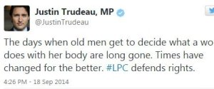 Justin Trudeau Abortion