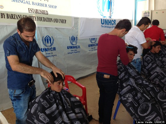 barbers in iraq refugee syria