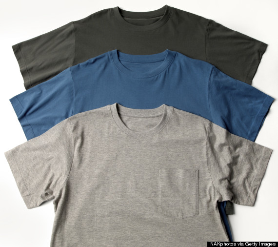 tee shirts pile