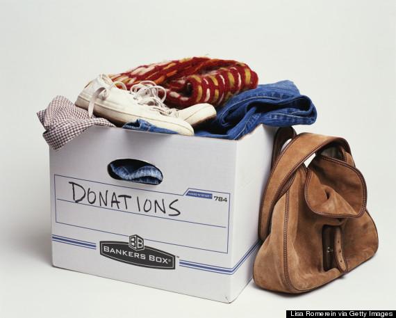 clothing donation bag