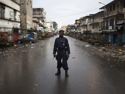 A solider in Sierra Leone