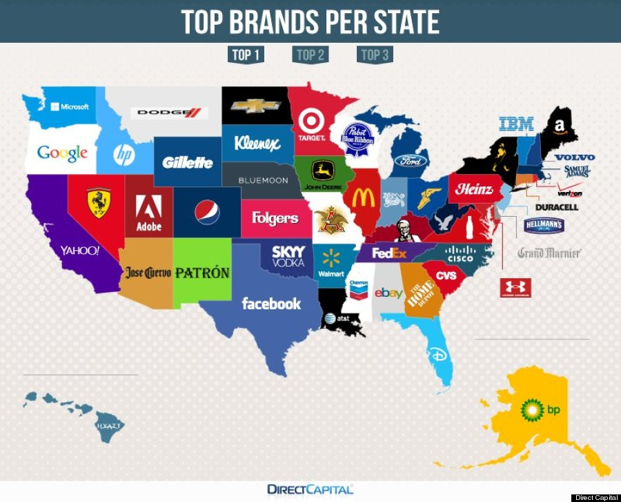 Here Are The Most Googled Brands In Each State Huffpost