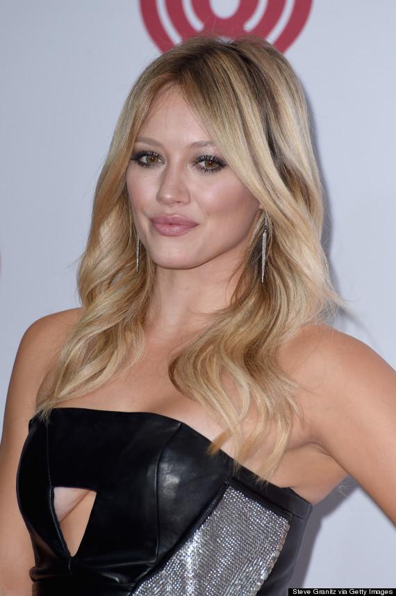 Hilary Duff Rocks A Cutout Leather Dress To The ... Hilary Duff Songs