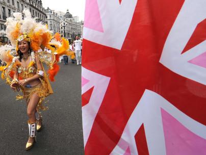 Gay pride march in London