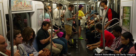 crowded subway new york