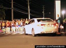 WATCH: Maui Man Drives Car Through Marathon Crowd