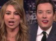 SOFÍA VERGARA Y JIMMY FALLON 'INTERCAMBIAN LABIOS'