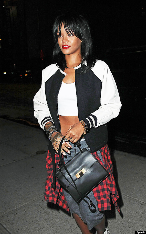 Rihanna Debuts Bangs And Short Haircut While In NYC | The Huffington ...