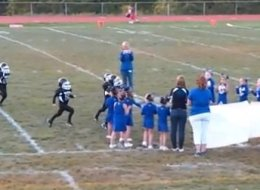 Youth Football Team Meets Its Toughest Opponent... A Banner
