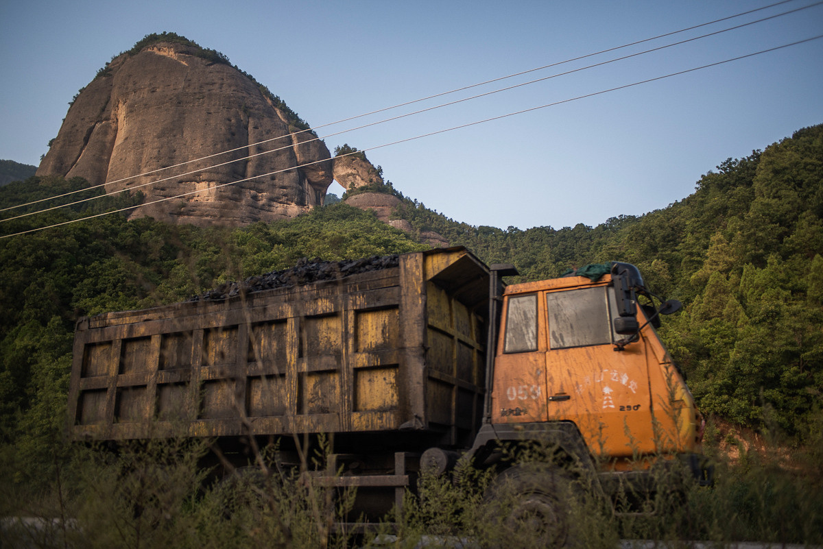 truck and mountain