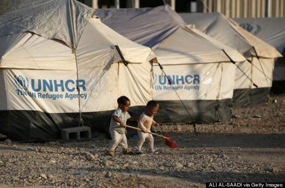 アルビルから10kmの位置にある難民キャンプ