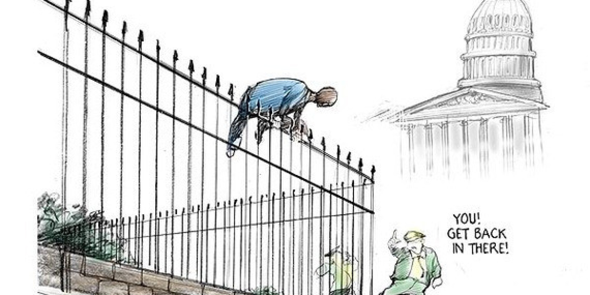 White House Fence Climber Huffpost