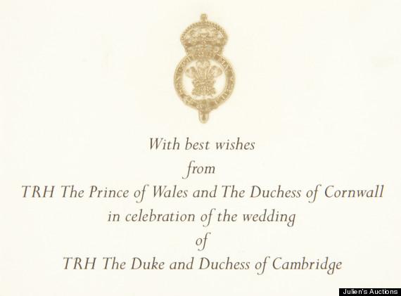 kate and william invitation