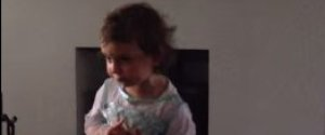 LITTLE GIRL FROZEN LAUGHING MUM