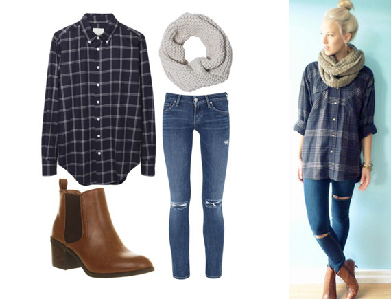 flannel chunky scarves