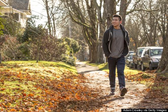 walking outside