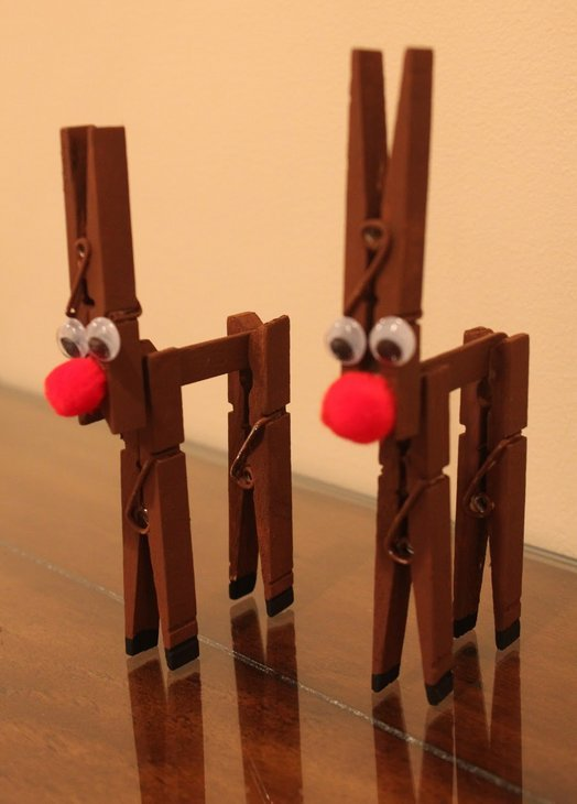 reindeer clothes pins