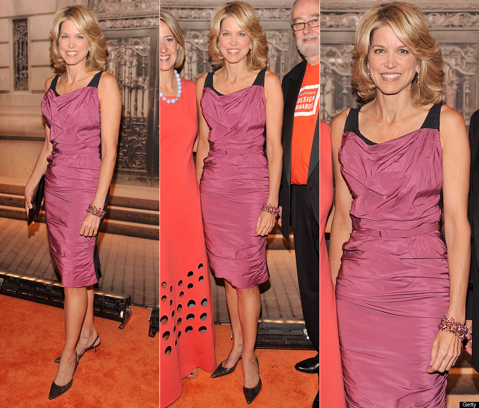 paula zahn s wrinkled ruched dress hit or miss photos poll