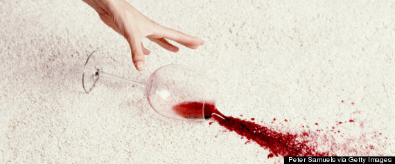 red wine spill
