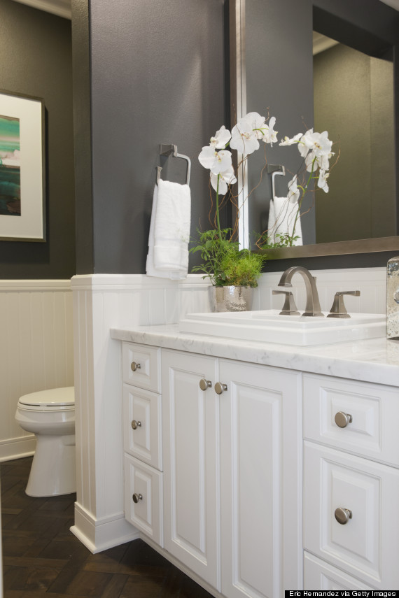 gray bathroom home decor
