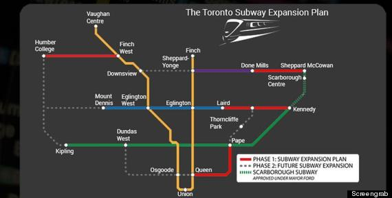 doug ford subway map